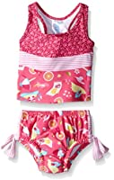 i play. Baby Girls' Swimsuit with Built-In Reusable Absorbent Swim Diaper