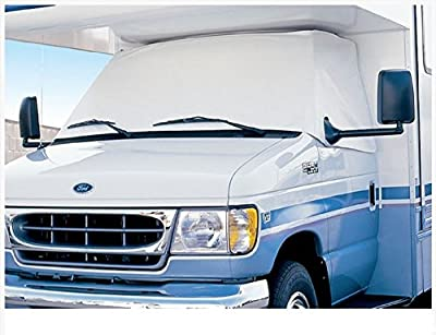 ADCO 2411 Dodge Class C RV 1998 - 2003 White Windshield & Side Windows Privacy Snooze Bonnet Cover