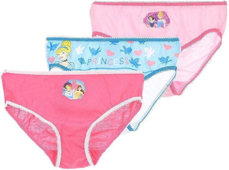 Pack 3 Braguitas Princesas Disney Talla 6-8 años: Amazon.es: Ropa ...