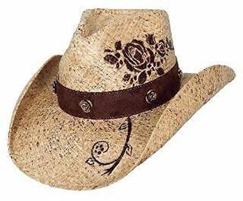 5e492ffd41b6f2 Amazon.com: Bullhide Hats Romantic Dream Straw Western Cowboy Hat 2508:  Clothing