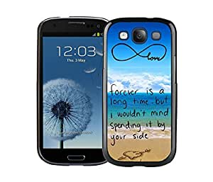 Samsung Galaxy S3 Case I9300 Element Black Cell Phone Case Cover Protector Pop infinity anchor with love and sandy beach design