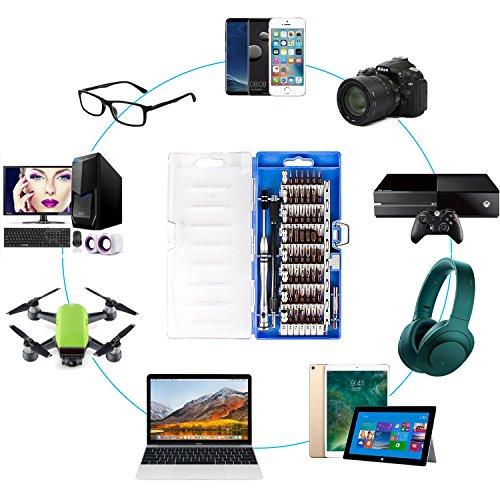 Smraza 68 en 1 Juego Destornilladores de Precision Magnético Kit Herramientas Pinzas Pry Ventosa para iphone, iPad, Macbook Pro, Tabletas, Laptop, PC, Teléfonos Móviles, PS4, Xbox, Cámara, etc 68 in 1 Kit Destornilladores