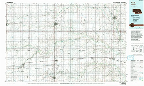 York NE topo map, 1:100000 scale, 30 X 60 Minute, Historical, 1985, updated 1994, 24.1 x 40 IN - Tyvek