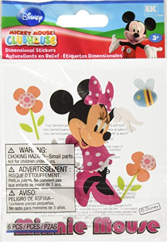 EK Success Disney Mickey Mouse Clubhouse Dimensional Sticker-Minnie Mouse (Mouse Stickers Dimensional Minnie)