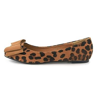 PLNXDM Zapatos De Trabajo Mocasines De Leopardo Zapatos De Guisantes Zapatos Ocasionales De Mujer Para Barco Zapatillas De Ballet De Moda: Amazon.es: Ropa y ...