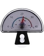 Fish Tank Aquarium Thermometer Temperature Meter Gauge Tester Submersible # Semi-Circle Shape
