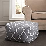 Premium Quality Ottoman Rustic Pouf- Excellent Construction- Different Color & Pattern Combinations- Grey, Red & Navy Blue W/ Moroccan Designs- Comfortable & Soft Fabric