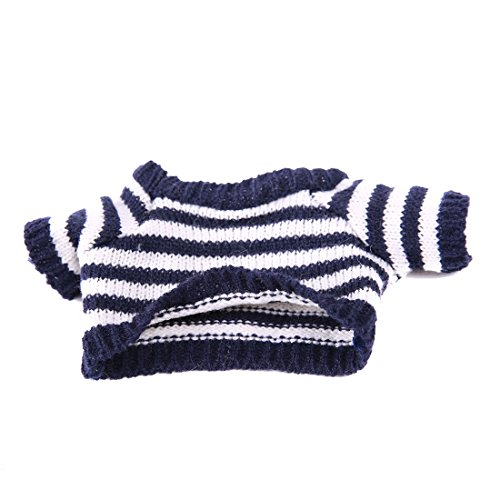 - YaToy Knit Bear Sweater Clothes Fit 11-47 inch Stuffed Animals Outfits Unisex Girls Doll Shirt Bundle Blue and White
