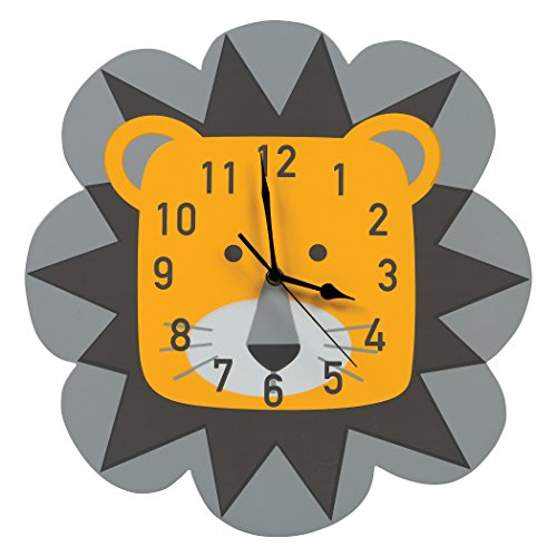 Trend Lab Lion Wall Clock, Yellow/Gray