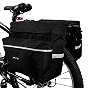 #LightningDeal 88% claimed: BV Bike Bag Bicycle Panniers with Adjustable Hooks, Carrying Han