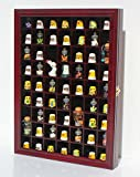 59 Thimble Display Case Wall Shadow Box Cabinet, Glass Door, Solid Wood, TC01-Ch