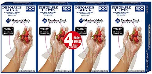 Daily Chef Plastic Disposable Gloves