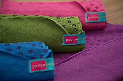Yoga Towel by Pavandeep with Non Slip Silicon 3D Print for Ultimate Mat Grip, Perfect for Hot Yoga Pilates and Fitness