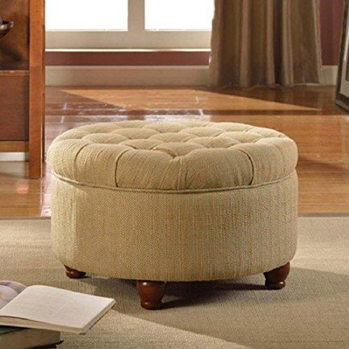 Kinfine Tweed Tufted Storage Ottoman