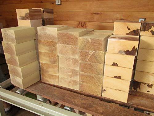 - Cherry Cottonwood Boxelder Walnut Lathe Turning Exotic Wood Bowl Blanks Blocks, 6