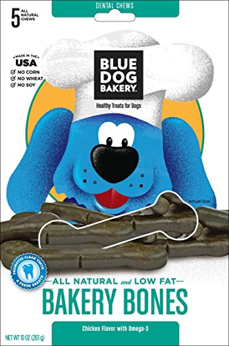 Blue Dog Bakery All Natural Low Fat Bakery Bones Dog Treats, 10-Ounce Bags (Pack of 8)