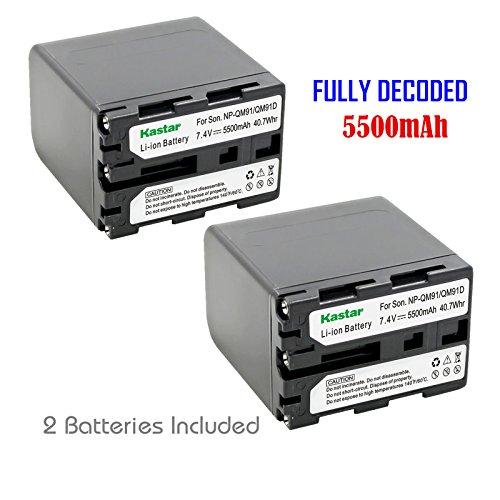 Kastar Battery (2-Pack) for Sony NP-QM91D NP-QM71D work w...
