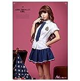 Anna-Mu-Blue-White-School-Girl-Uniform-Cosplay-Costume-Set-With-Long-TieNA10030086