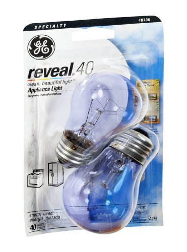 Reveal Reveal Appliance Light Bulb 40 W 320 Lumens Med Base Clear Carded Pack / 2