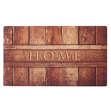 Amagabeli Rustic Indoor Non Skid Doormat Entrance Low Profile Washable Rubber Door Mat for Inside Front Kitchen Floor Outdoor Patio Porch Garage Rug Entry Way Carpet Christmas Home Decor 18  X 30