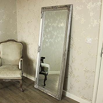 silver floor mirror. Wonderful Silver Melody Maison Large Ornate Silver WallFloor Mirror 176cm X 76cm In Floor O