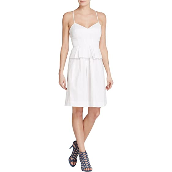 Amazon.com: Elizabeth and James Womens Satin Peplum Cocktail Dress ...
