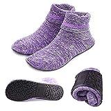 Slipper Socks Home Shoes Socks with Soles Rubber Bottom Non Slip Portable Fun Wear