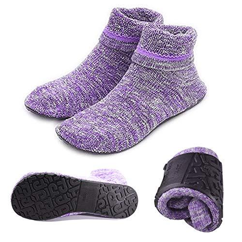 Womens Cozy & Comfortable Womens Slipper Socks Winter Non Skid Socks