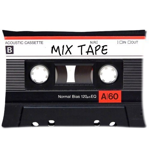Mix Tape Custom Zippered Pillow Cases Soft And Confortable 20x30 (Twin Sides)