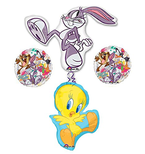 Bugs Bunny and Tweety Bird Looney Tunes Balloon Bouquet Decorations