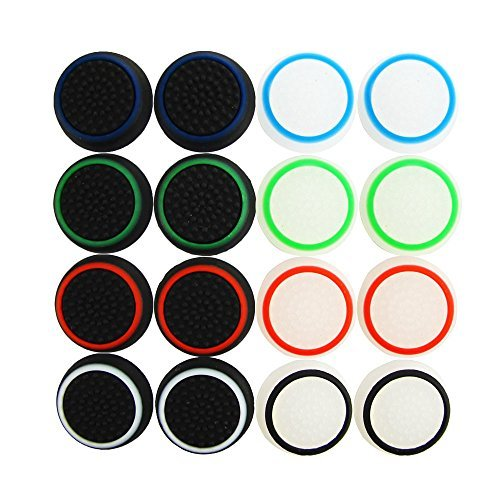 Pack of 16pcs Pandaren Thumb Grip Thumbstick Noctilucent Sets for PS2, PS3, PS4, Xbox 360, Xbox One Controller