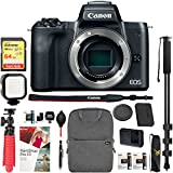 Canon EOS M50 Mirrorless Camera Body with 4K Video (Black) and Pro Photography Bundle Backpack, Monopod, SanDisk 64GB SDXC Memory Card, Extra Battery Kit (EOS M50 Pro Photography Bundle)