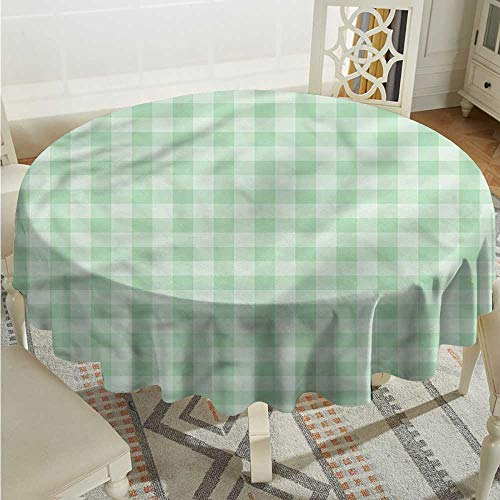 Tim1Beve Mint Waterproof Table Cover Traditional Old Tartan Modern Minimalist D36 INCH