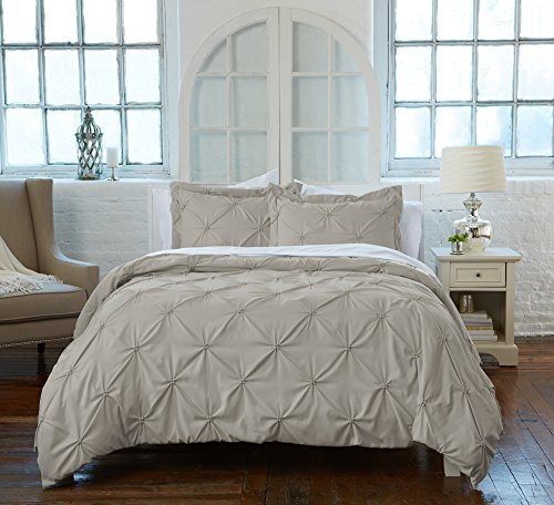 Great Bay Home Signature Pinch Pleated Pintuck Duvet Cover w