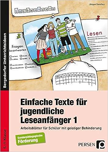 Einfache Texte für jugendliche Leseanfänger: Arbeitsblätter für ...