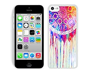BINGO wholesale price Colorful Dream Catcher iPhone 5C Case White Cover