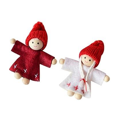 Amazon.com: Pausseo - Adornos de Navidad de fieltro, diseño ...