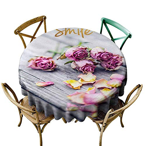 SKDSArts Round Table Cloth Closeup of Wedding Bouquet Flowers with Unity Candles. D65,for Accent ()