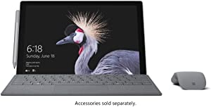Microsoft Surface Pro 4 KGN-00001 2-in-1 Laptop, Intel Core i7-6650U, 8GB RAM, 256GB SSD (Renewed)