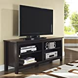 "WE Furniture 58"" Wood TV Stand Storage Console, Espresso (Misc.)"