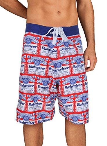 Budweiser All Over Retro Print Boardshorts (Medium)