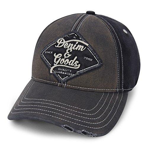 (True Religion Men's Denim & Goods Baseball Cap, Black, One Size)