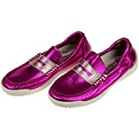 Naturino Girls Pink Metallic Penny Loafers Slip-on Size 32 EU