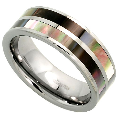 Tungsten Wedding Mother Stripes Comfort