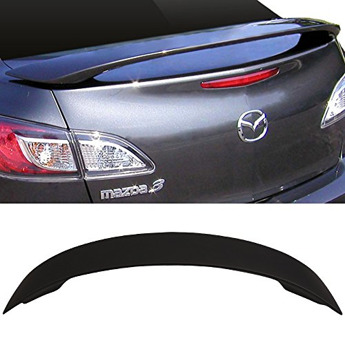 (Trunk Spoiler Fits 2010-2013 Mazda 3 | Factory Style Matte Black ABS Car Exterior Trunk Spoiler Rear Wing Tail Roof Top Lid by IKON MOTORSPORTS | 2011 2012)