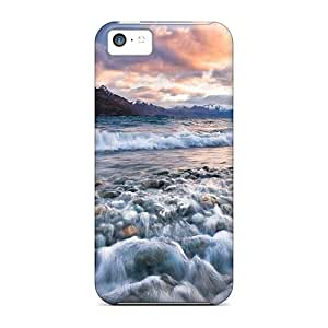 Luckmore Premium Protective Hard Case For Iphone 5c- Nice Design - Sunset Music