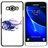 Plastic Shell Protective Case Cover || Samsung Galaxy J3 Pro (Not for J3)) || Xray Fish Skeleton Art @XPTECH
