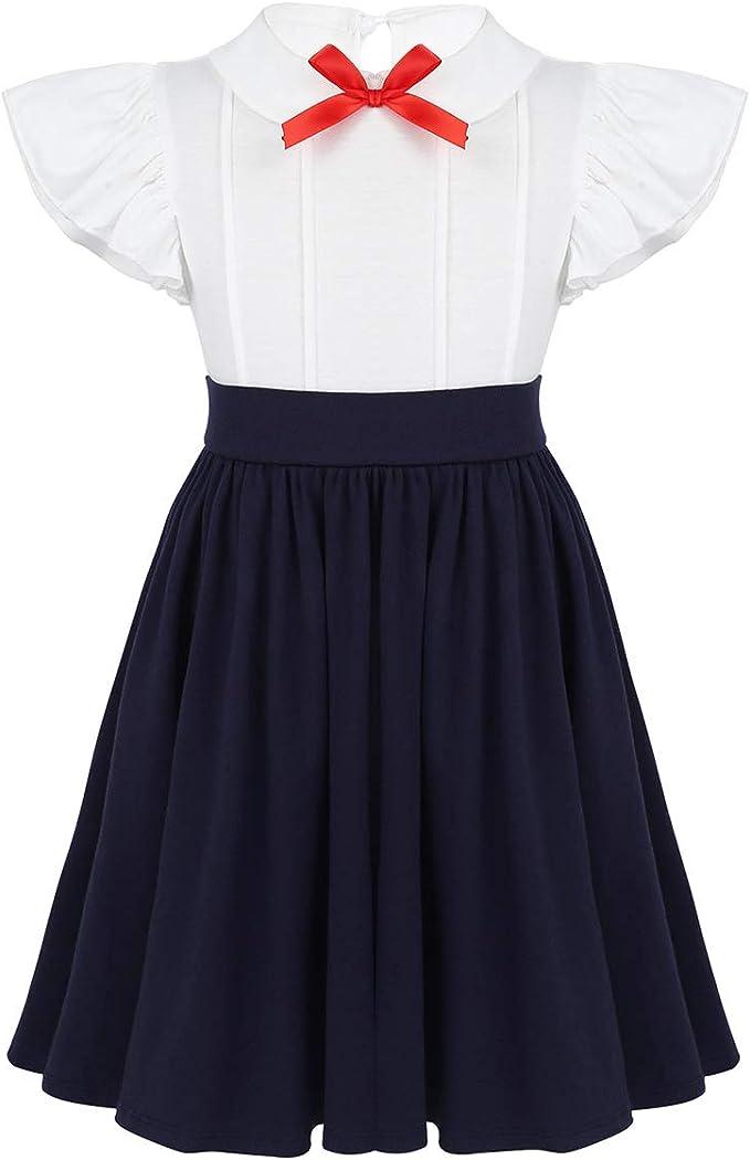 Vestiti Eleganti In Inglese.Freebily Vestito Principessa Bambina Cotone Uniforme Scolastica