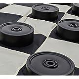 MegaChess Garden Checkers Set and Garden Checkers Mat - 4 inch