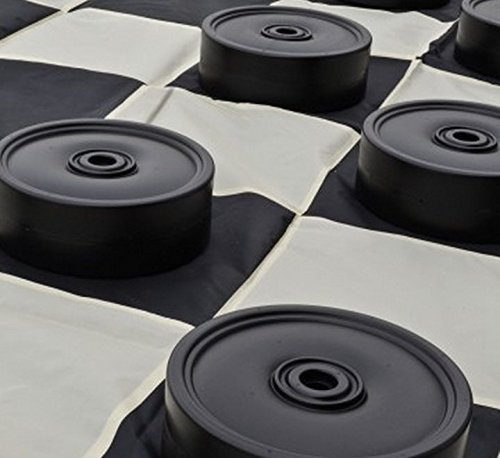 MegaChess Garden Checkers Set and Garden Checkers Mat - 4 (Large Checkerboard)